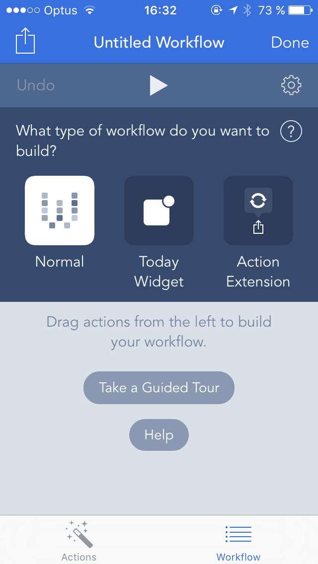 Create on iOS by Work Flow from UIGarage