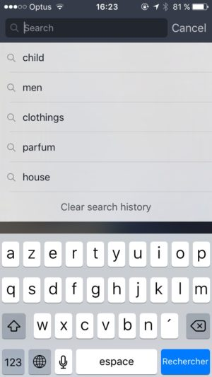 Search on iOS by Fancy from UIGarage