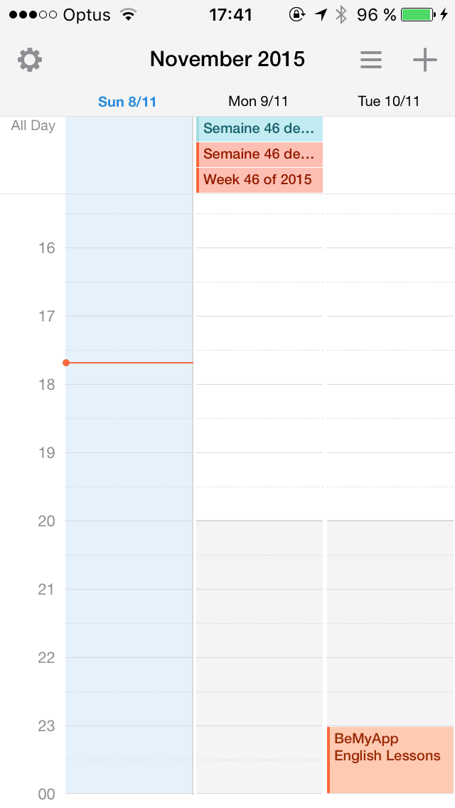 Calendar on iOS by Sunrise from UIGarage