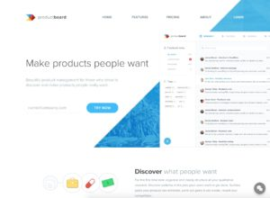 Landing Page by Product Board from UIGarage