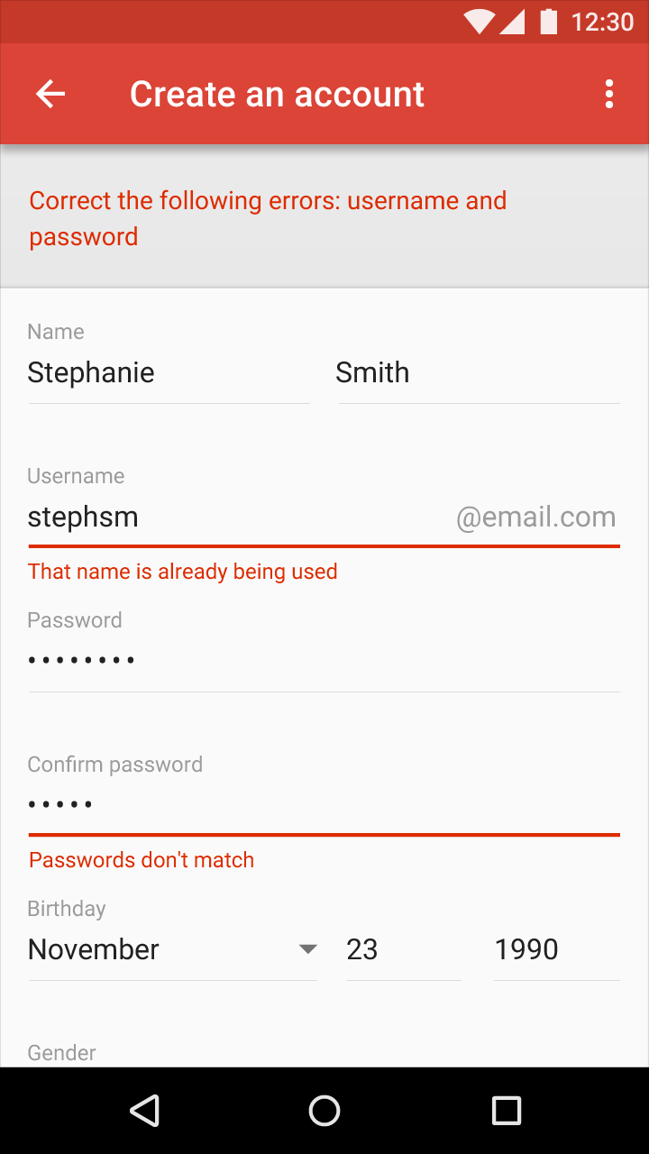 Forms on Android from UIGarage