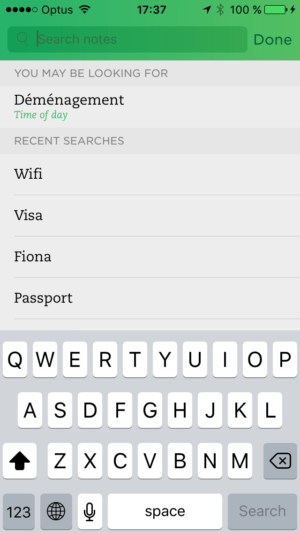 Search on iOS by Evernote from UIGarage