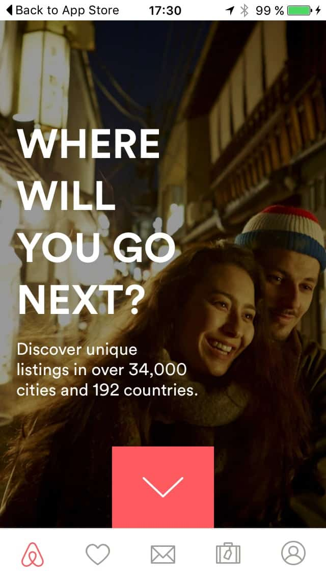 First Launch on iOS by Airbnb from UIGarage