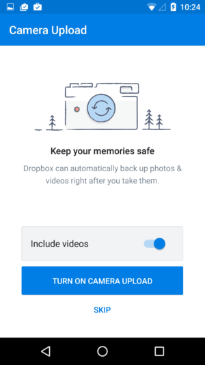 Ask permission camera on Android by Dropbox from UIGarage