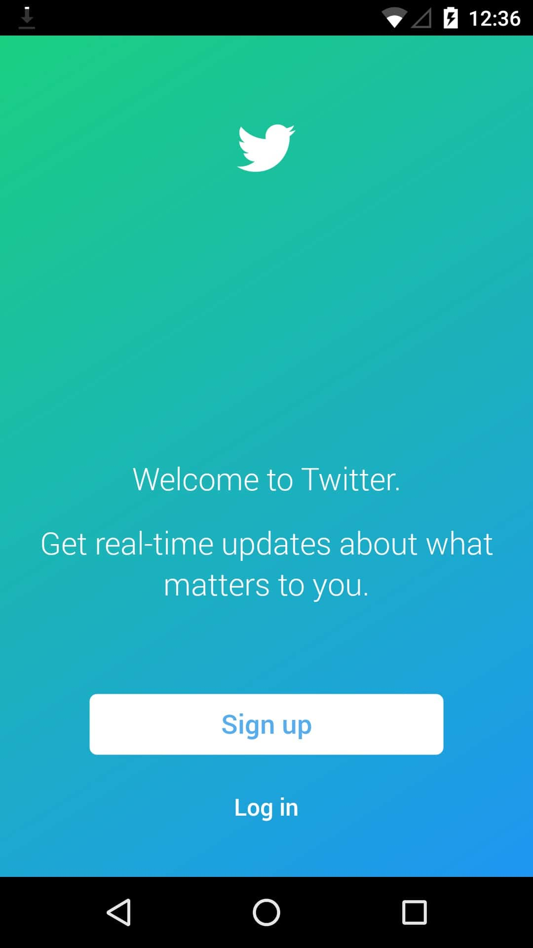 Sign up screen by twitter from UIGarage