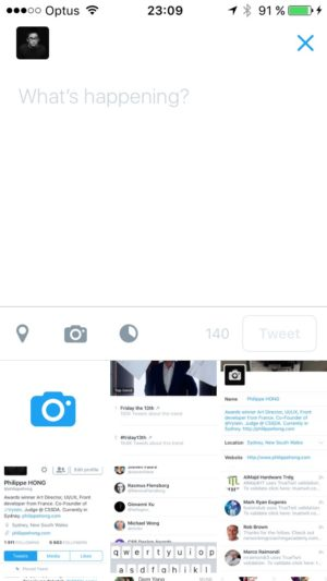 Create screen on iOS by Twitter from UIGarage