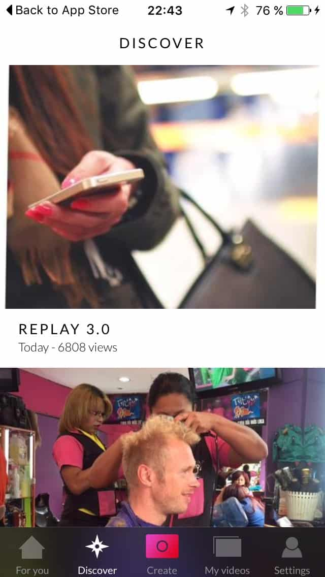 Discover screen on iOS by Replay from UIGarage