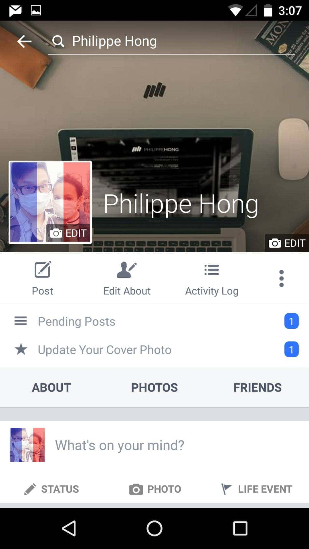 Profile Screen on Android by Facebook from UIGarage