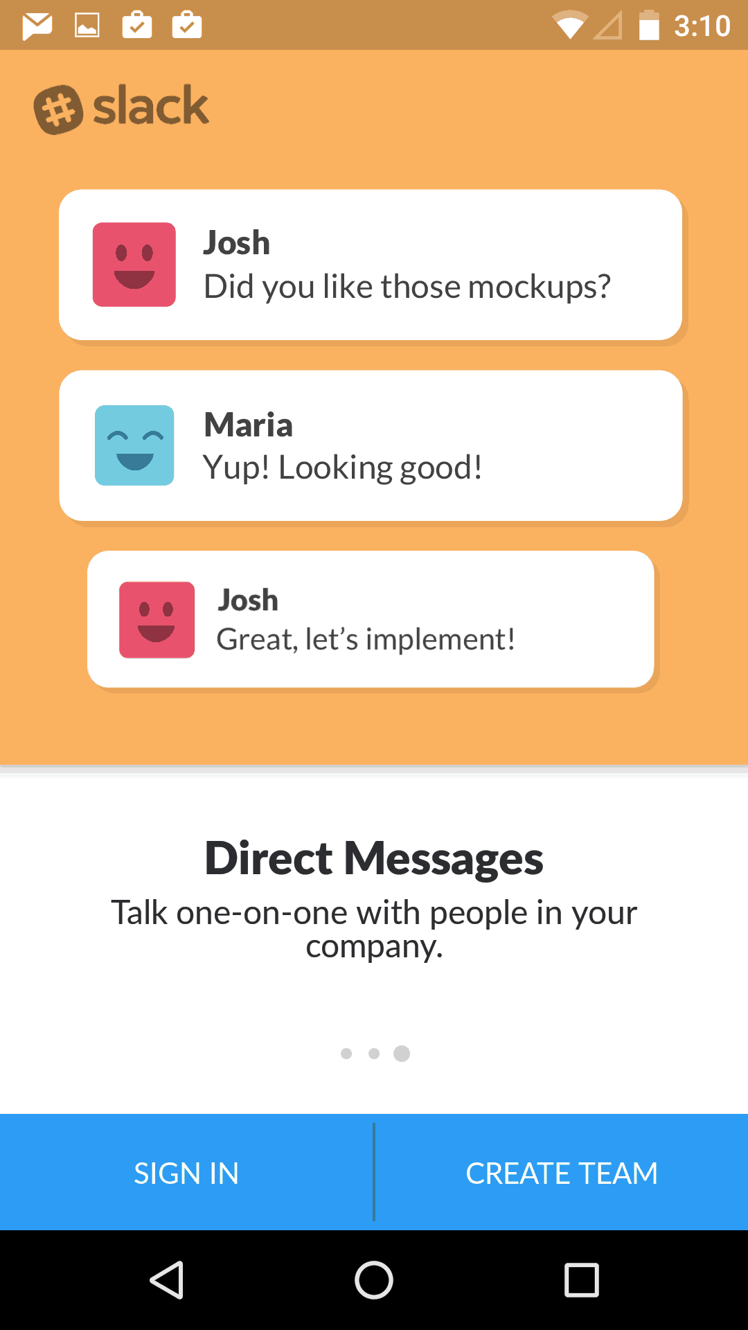 Onboarding on Android by SlackHQ from UIGarage