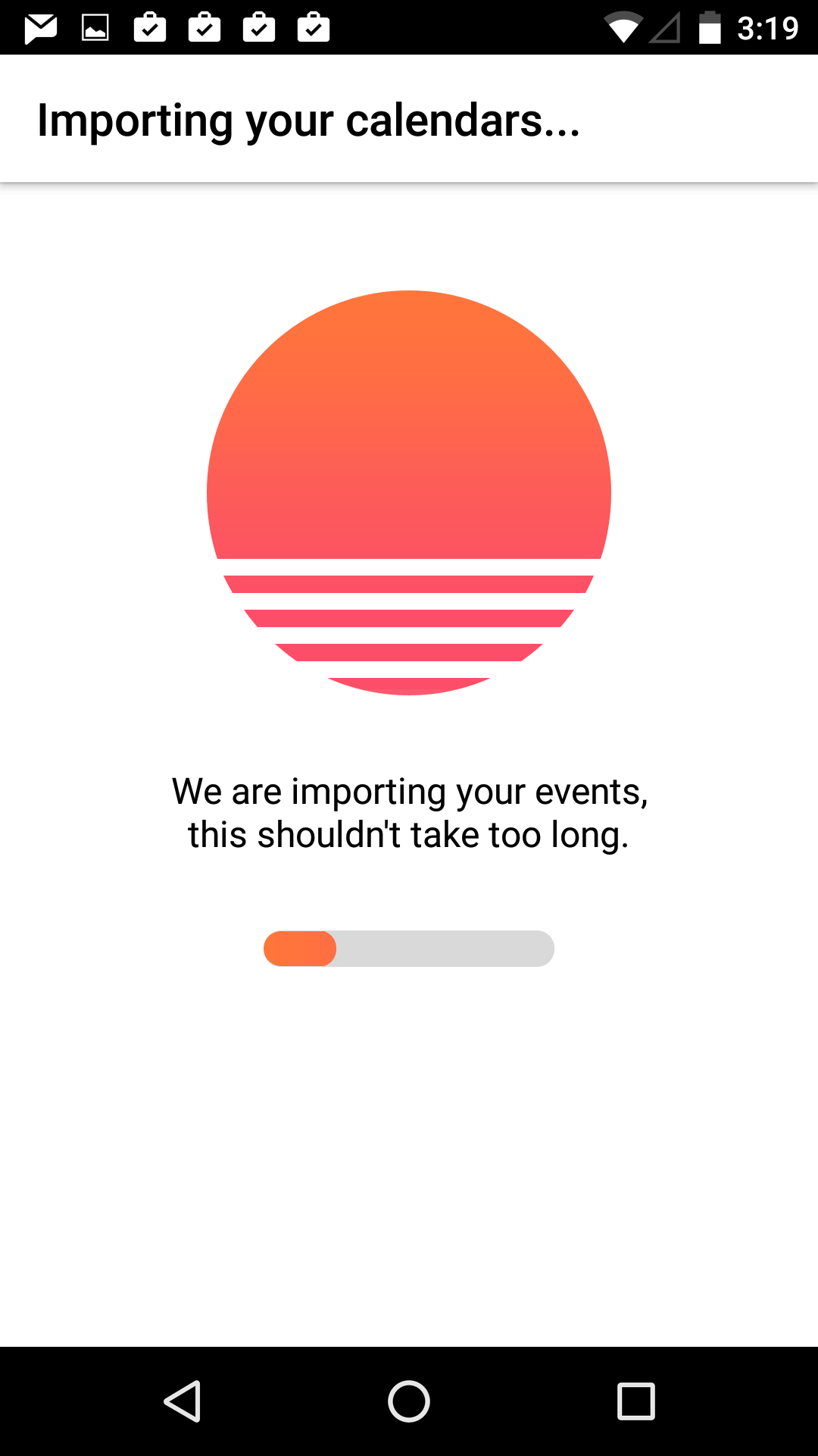 Loading screen on Android by Sunrise from UIGarage
