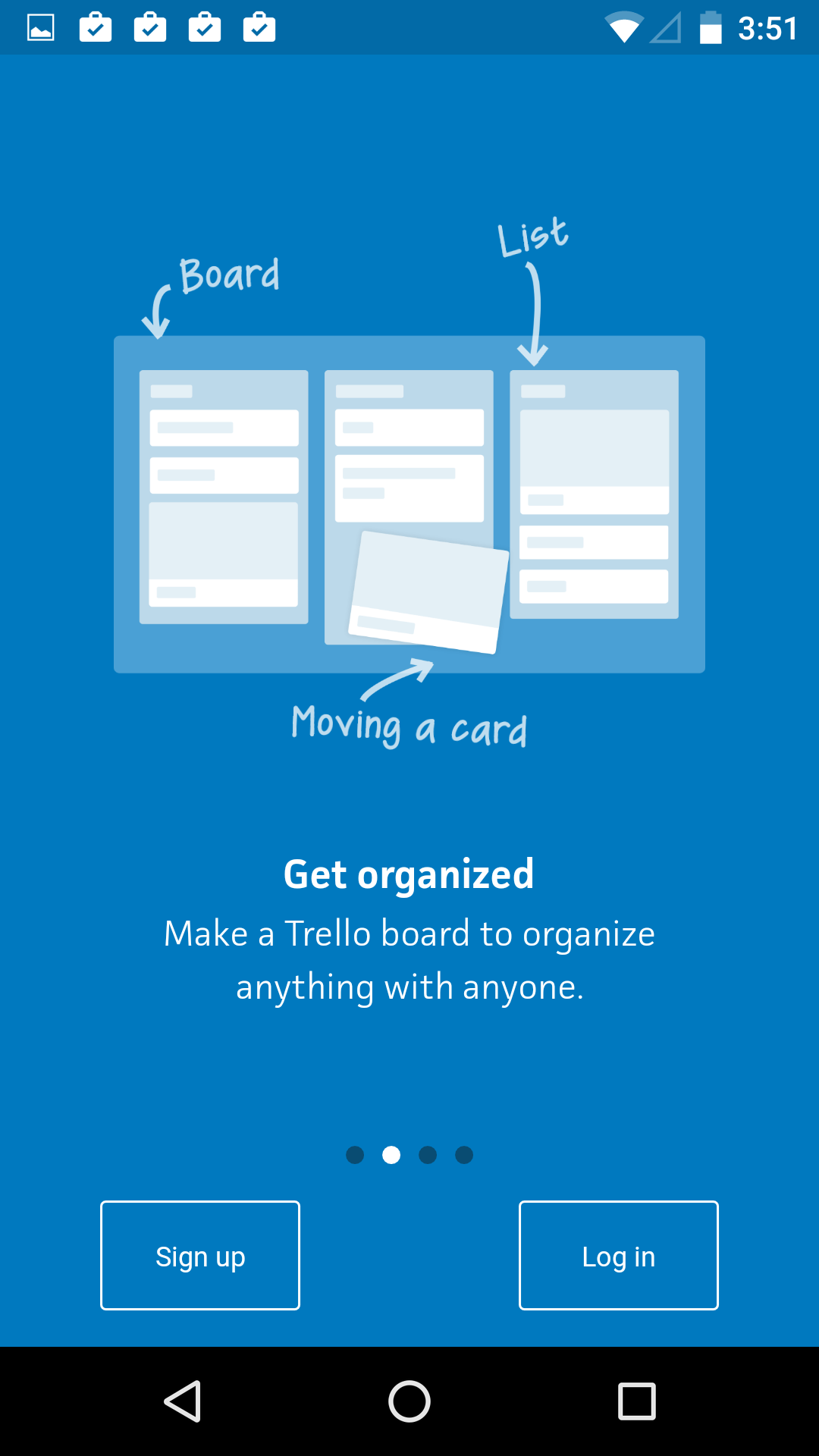 Onboarding on Android by Trello from UIGarage