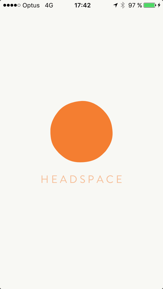 Launch screen on iOS by Get Headspace from UIGarage