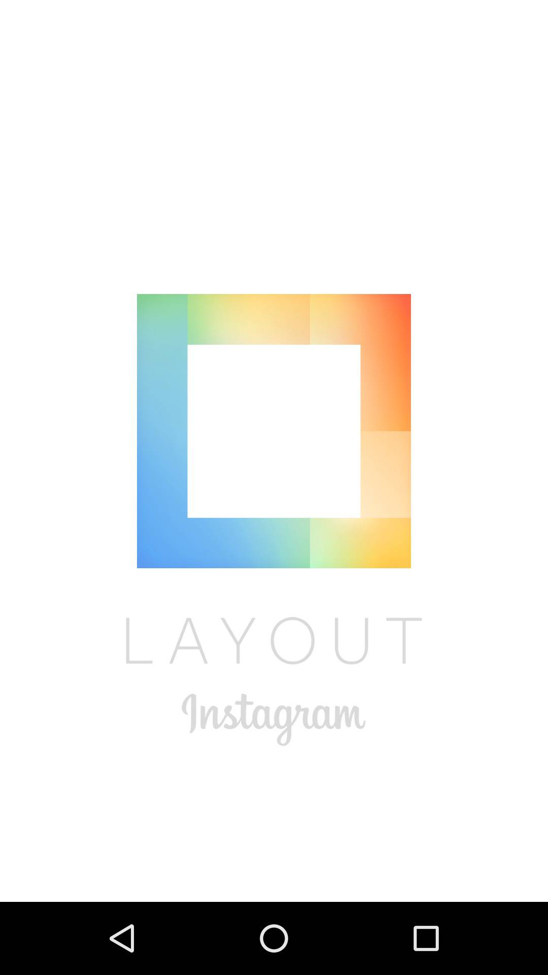Launch screen by Layout Instagram from UIGarage