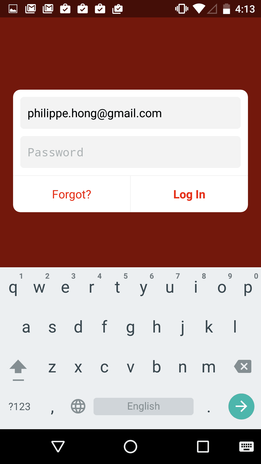 Login Screen on Android by Path from UIGarage