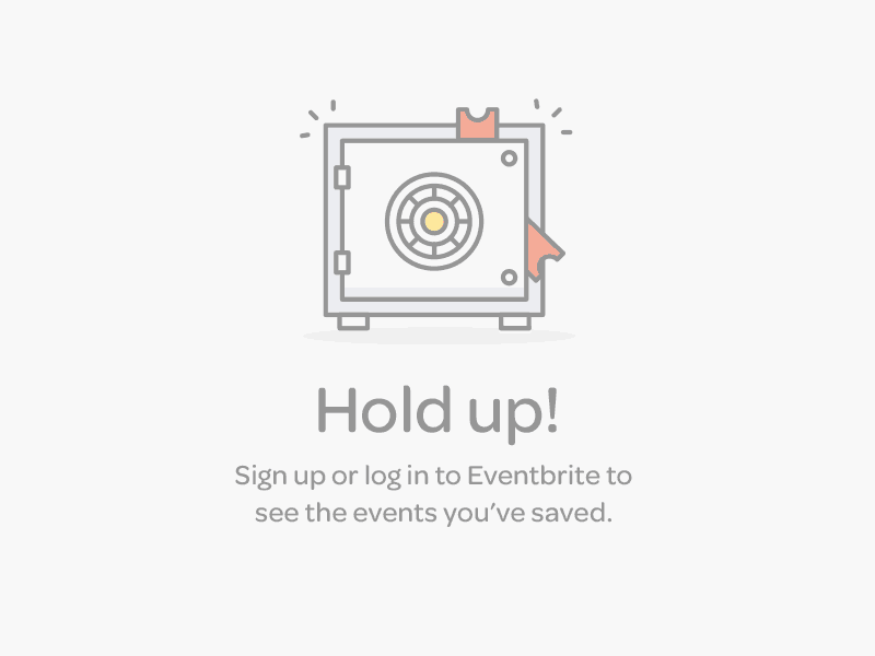 Warning message on iOS by Eventbrite from UIGarage