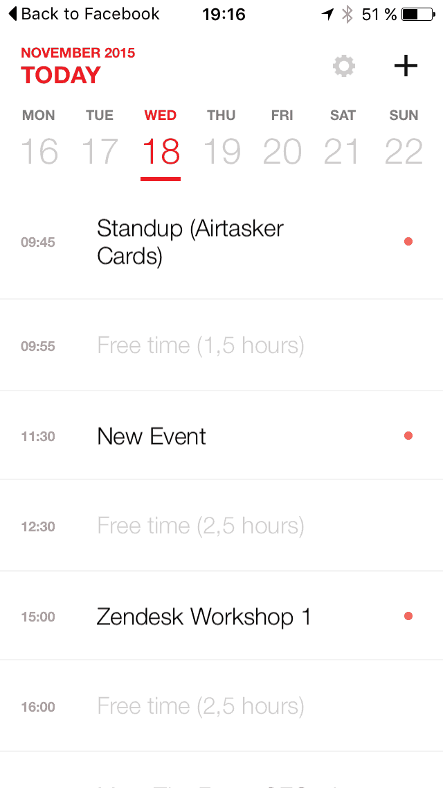 Calendar view on iOS by Anydo from UIGarage