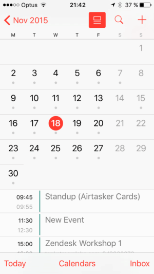 Calendar view on iOS by iCal from UIGarage