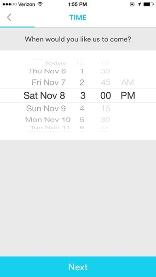 Date picker create on iOS by Handy from UIGarage