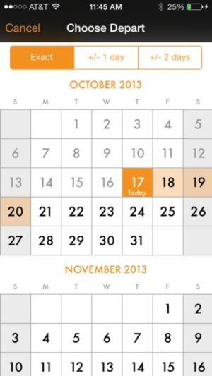 Date picker on iOS by Kayak from UIGarage