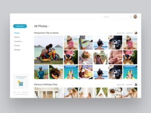 Photo Gallery Screen by Madebynotch from UIGarage