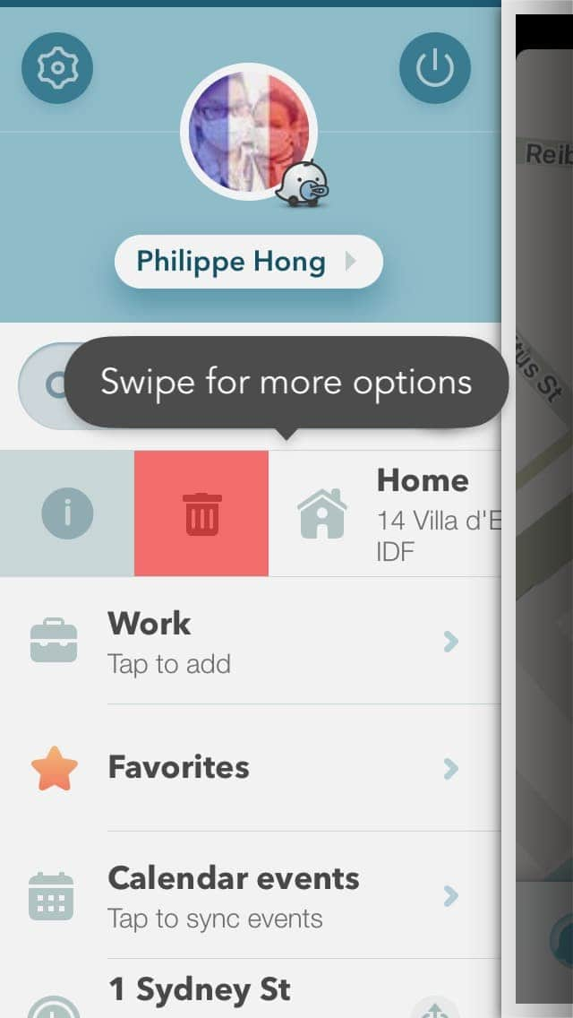 Tutorial menu on iOS by Waze from UIGarage