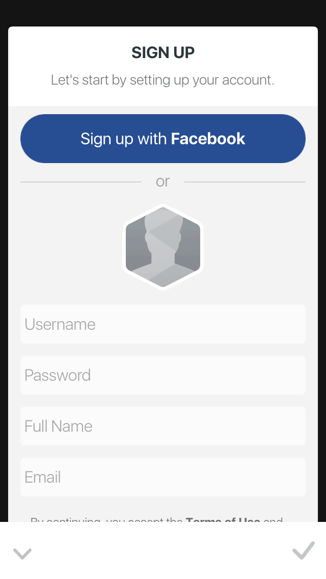 Signup by Facet Nation from UIGarage