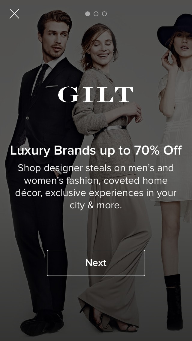 Onboarding by Gilt from UIGarage