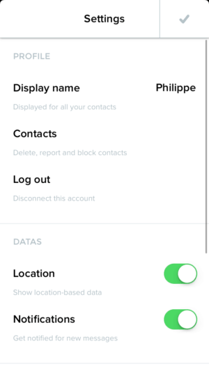 Settings page by Heytribe from UIGarage