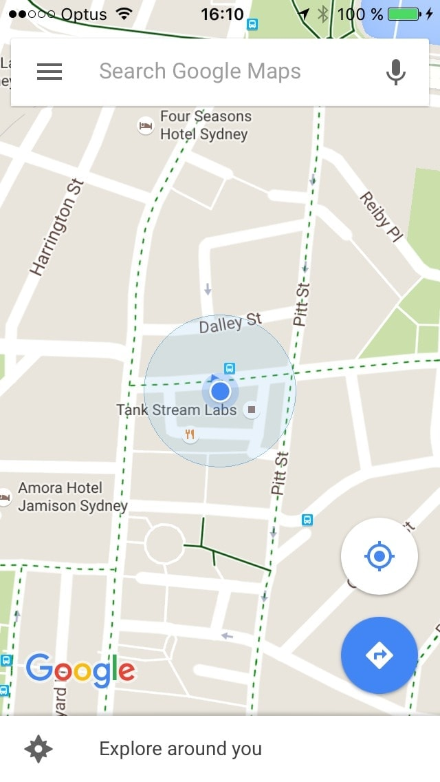 Map screen on iOS by Google Maps from UIGarage