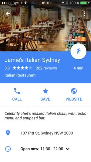 Content screen on iOS by Google Maps from UIGarage