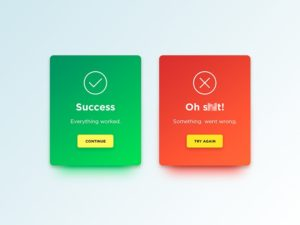 Congrats & error messages by Denis Abdullin from UIGarage