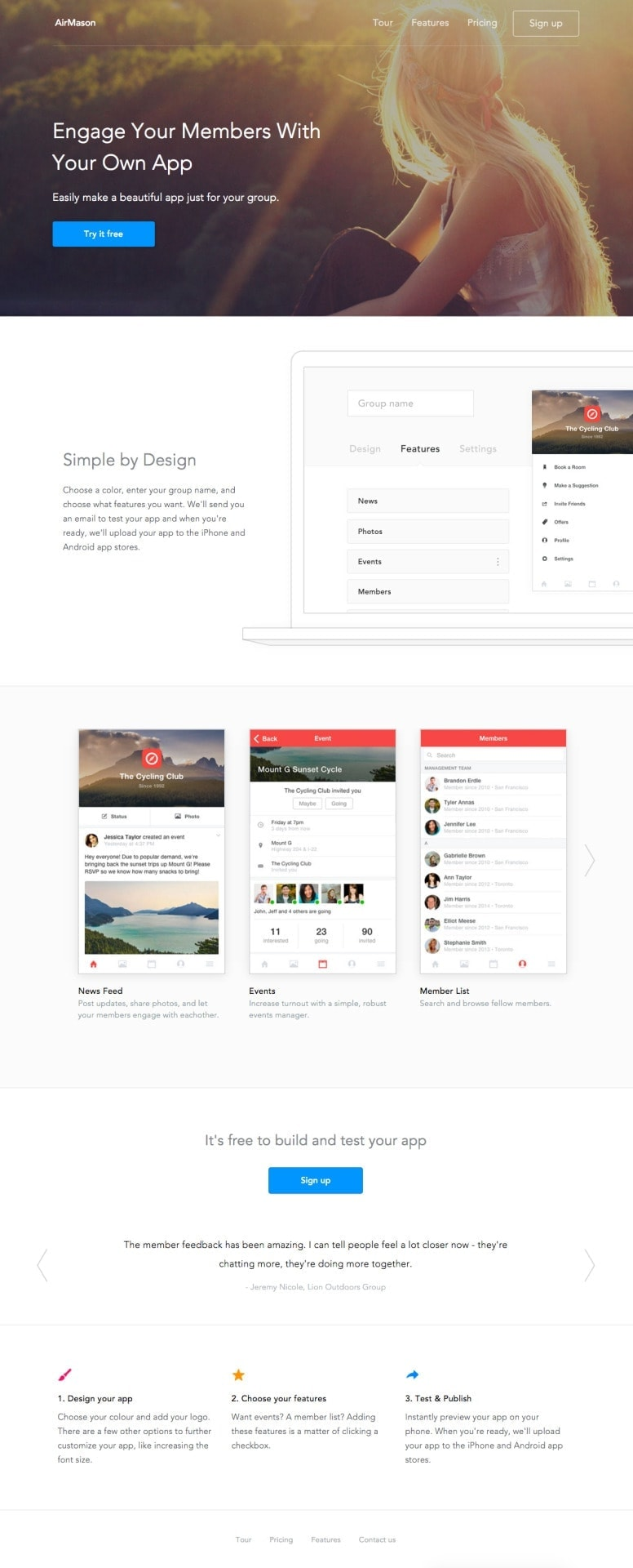 Landing page by Dawsonwhitfield from UIGarage