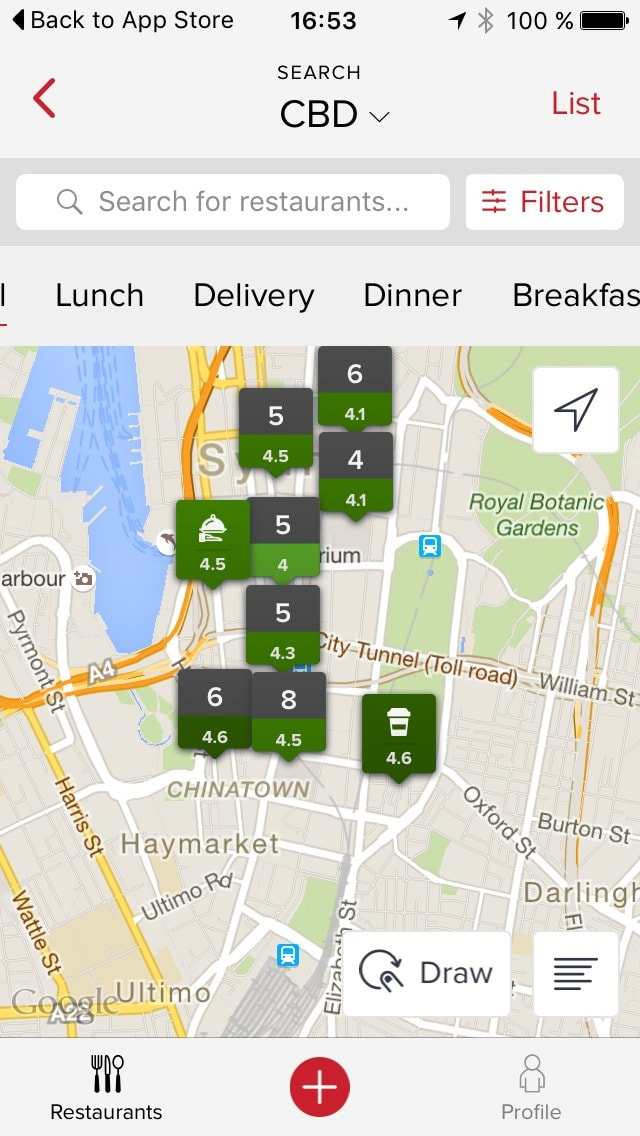 Map view on iOS by Zomato from UIGarage