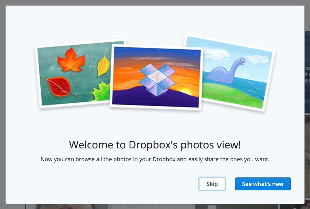 Onboarding by Dropbox photos from UIGarage