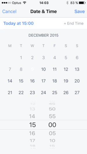 Datepicker on iOS by Facebook from UIGarage