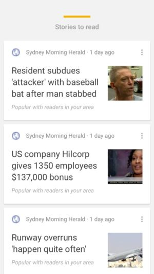 Stories cards on iOS by Google from UIGarage