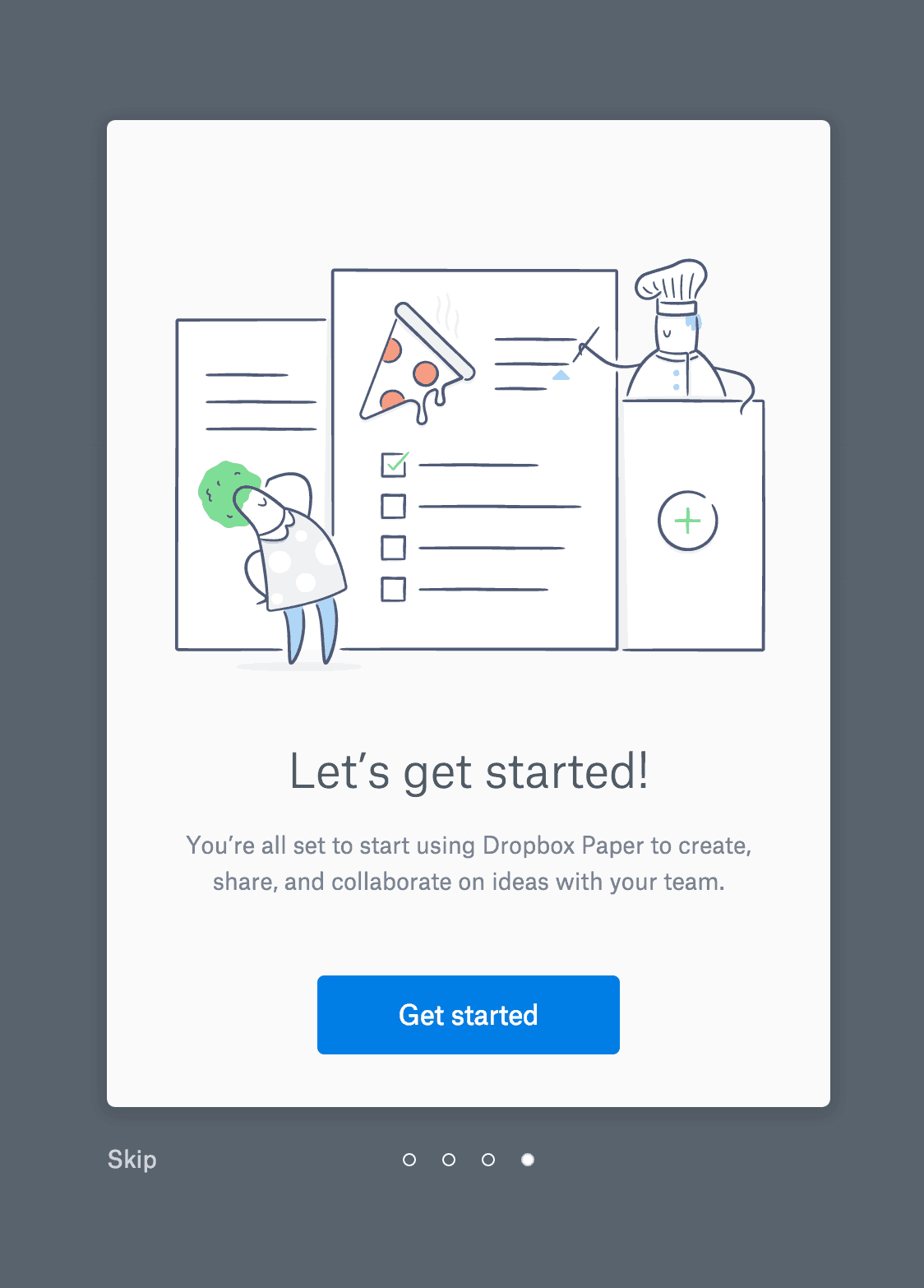 Onboarding on iOS by Dropbox from UIGarage