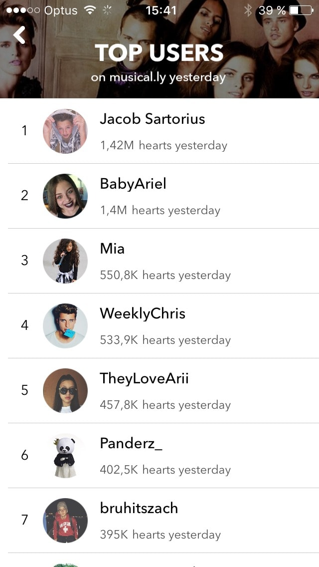 Leaderboard on iOS by Musically from UIGarage