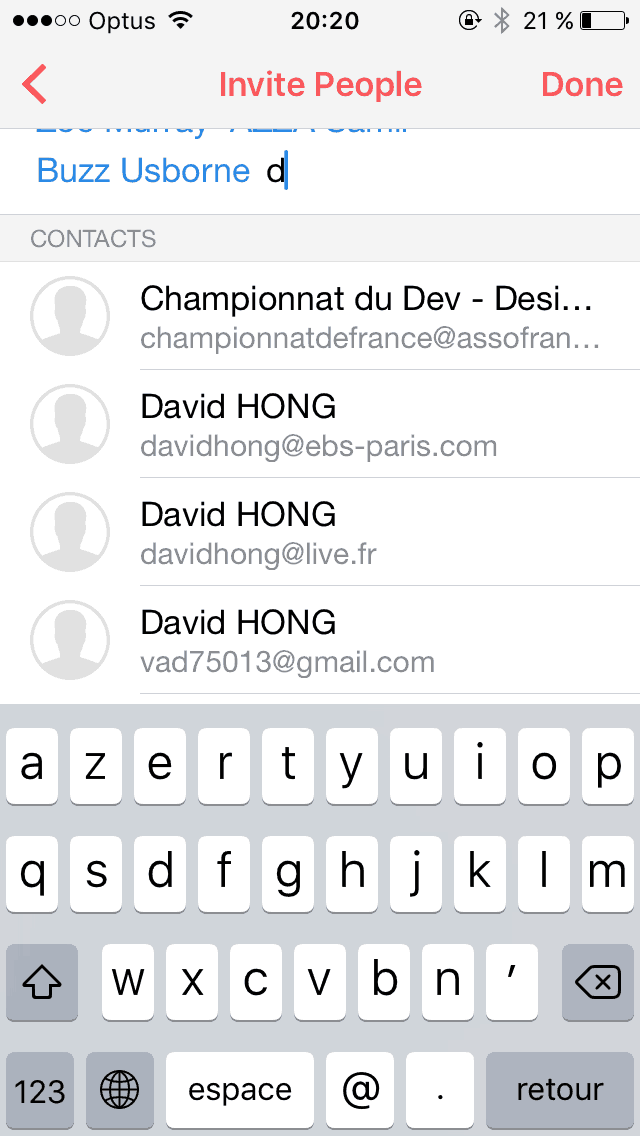 Add Invite List on iOS by Sunrise from UIGarage