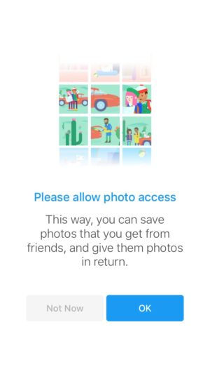 Ask photo permission on iOS by Facebook from UIGarage