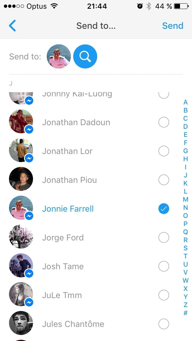 Add contact on iOS by Facebook from UIGarage