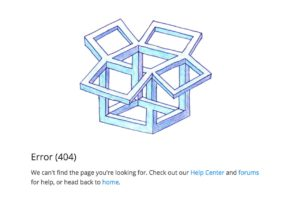 404 page by Dropbox from UIGarage