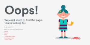 404 page by Airbnb from UIGarage