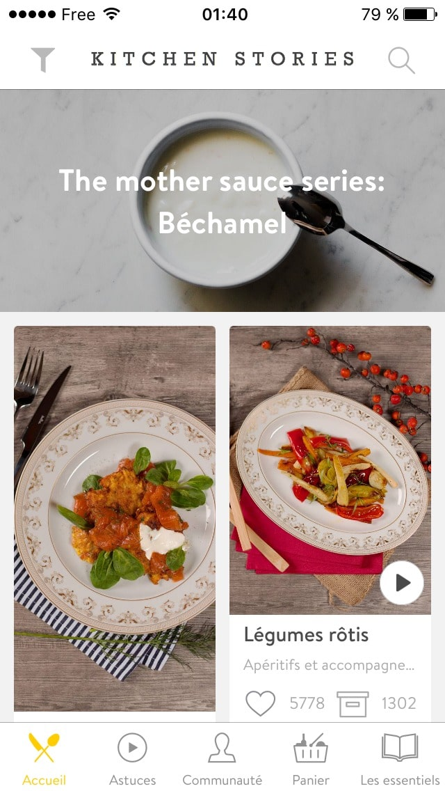 Homepage on iOS by 1KitchenStories from UIGarage