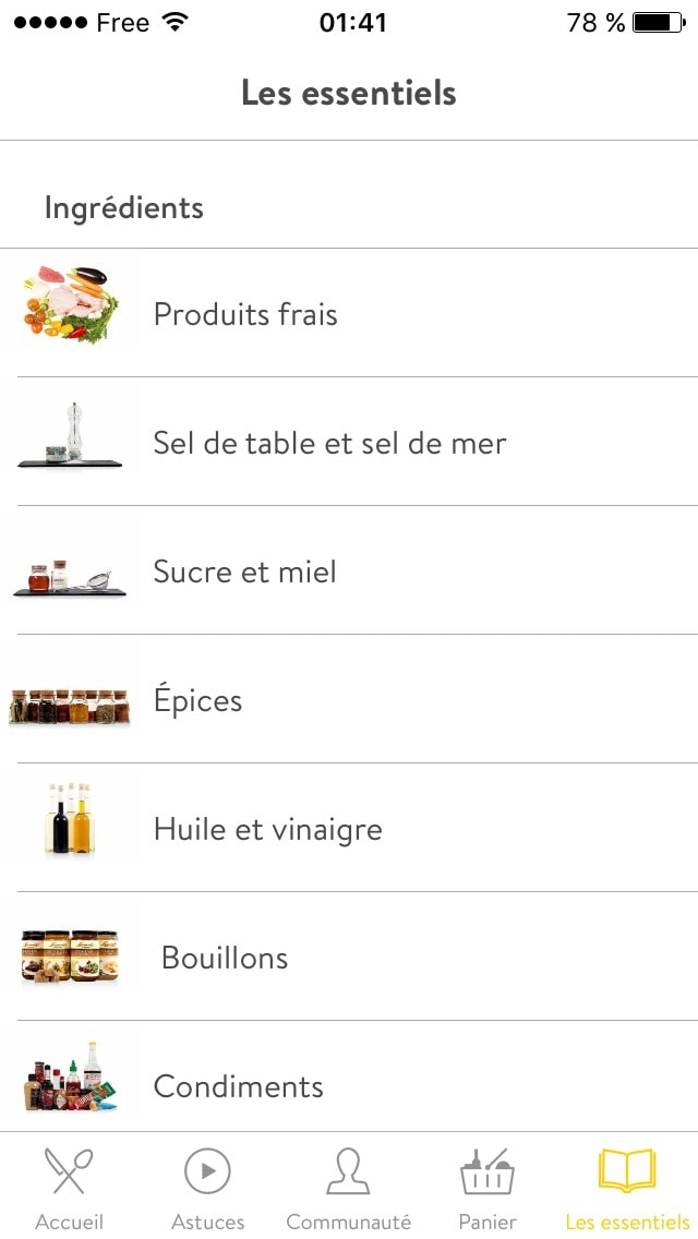 Menu on iOS by 1KitchenStories from UIGarage