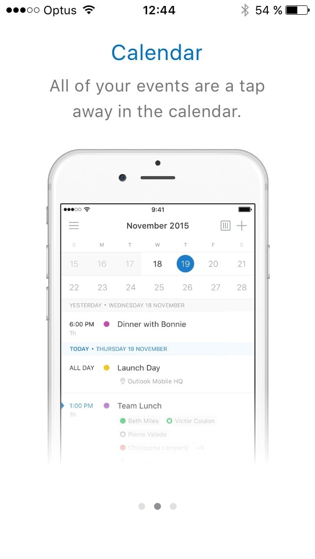 Onboarding on iOS by Outlook from UIGarage