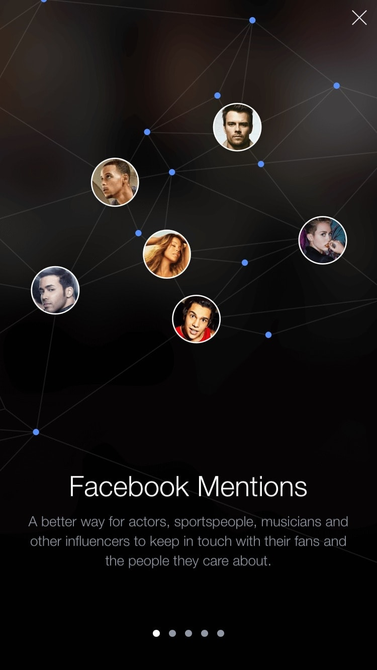 Onboarding on iOS by Facebook Mentions from UIGarage