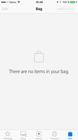 Empty state on iOS by Apple Store from UIGarage