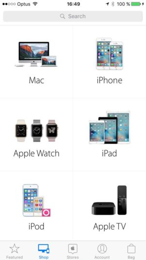Browse page on iOS by Apple Store from UIGarage