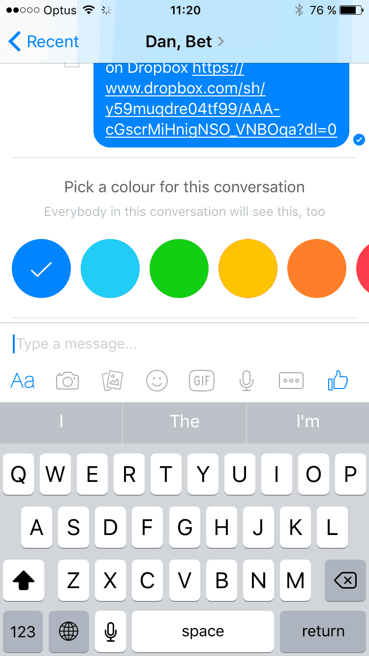 Customizing on iOS by Facebook Messenger from UIGarage